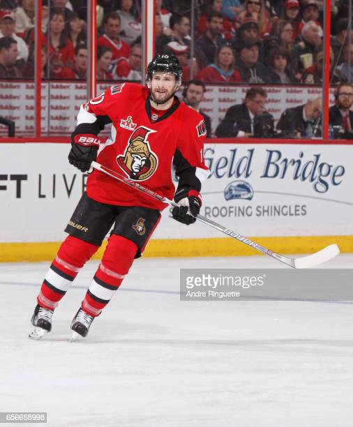 Tom Pyatt of the Ottawa Senators skates against the Montreal Canadiens at Canadian Tire Centre on March 18 2017 in Ottawa Ontario Canada