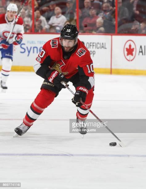Tom Pyatt of the Ottawa Senators skates against the Montreal Canadiens at Canadian Tire Centre on October 30 2017 in Ottawa Ontario Canada