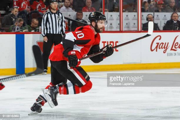 Tom Pyatt of the Ottawa Senators skates against the New Jersey Devils at Canadian Tire Centre on February 7 2018 in Ottawa Ontario Canada