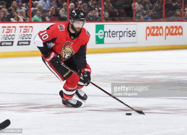 Tom Pyatt of the Ottawa Senators skates against the Philadelphia Flyers at Canadian Tire Centre on October 10 2018 in Ottawa Ontario Canada