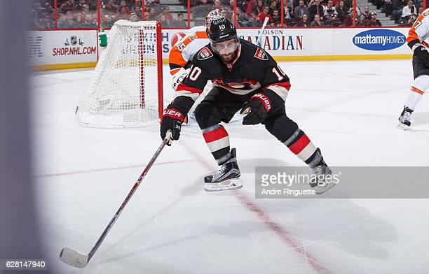 Tom Pyatt of the Ottawa Senators skates against the Philadelphia Flyers at Canadian Tire Centre on December 1 2016 in Ottawa Ontario Canada