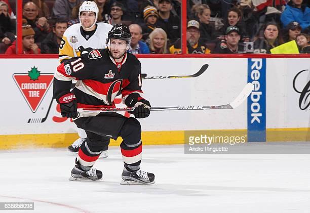 Tom Pyatt of the Ottawa Senators skates against the Pittsburgh Penguins at Canadian Tire Centre on January 12 2017 in Ottawa Ontario Canada