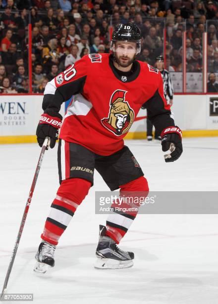 Tom Pyatt of the Ottawa Senators skates against the Pittsburgh Penguins at Canadian Tire Centre on November 16 2017 in Ottawa Ontario Canada