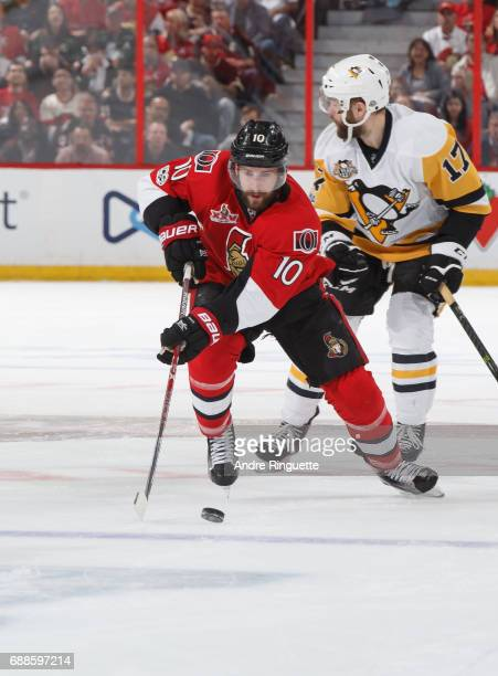Tom Pyatt of the Ottawa Senators skates against the Pittsburgh Penguins in Game Six of the Eastern Conference Final during the 2017 NHL Stanley Cup...