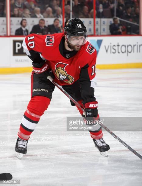 Tom Pyatt of the Ottawa Senators skates against the San Jose Sharks at Canadian Tire Centre on January 5 2018 in Ottawa Ontario Canada