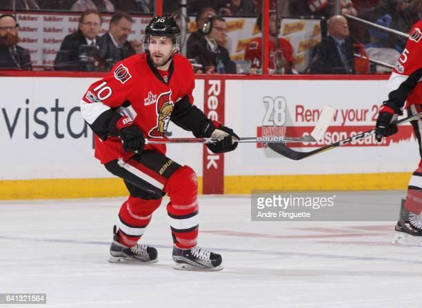 Tom Pyatt of the Ottawa Senators skates against the St Louis Blues at Canadian Tire Centre on February 7 2017 in Ottawa Ontario Canada