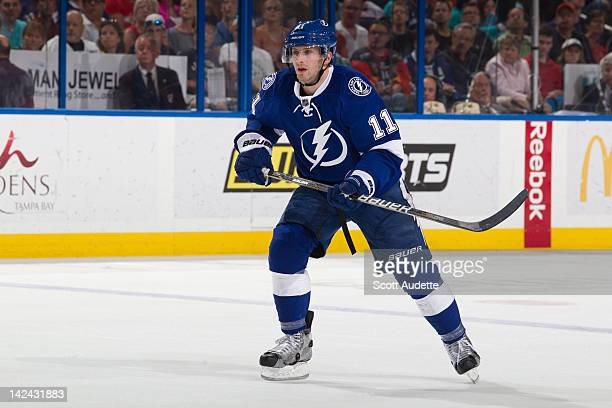 Tom Pyatt of the Tampa Bay Lightning skates against the Washington Capitals at the St Pete Times Forum on April 2 2012 in Tampa Florida