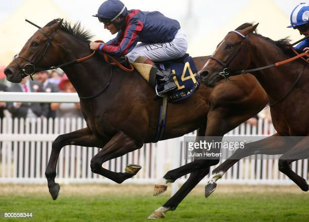 Tom Queally ridding The Tin Man wins The Diamond Jubilee Stakes Race run on the Fifth Day of Royal Ascot at Ascot Racecourse on June 24 2017 in Ascot...