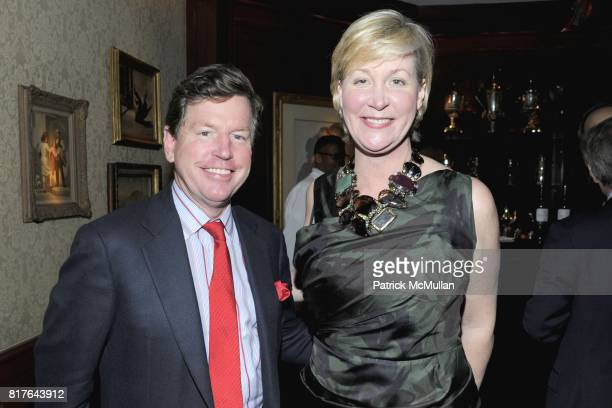 Tom Quick and Sara DoddSpickelmier attend ANNE HEARST MCINERNEY JAY MCINERNEY and GEORGE FARIAS Holiday Party at 21 Club on December 16 2010 in New...