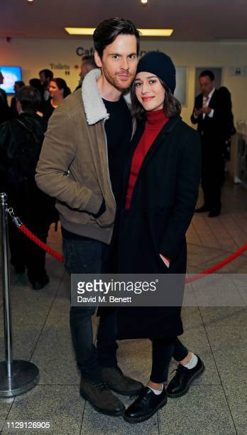 Tom Riley and Lizzie Caplan attend the press night after party for 'Waitress The Musical' at Cafe At The Crypt St MartinintheFields on March 7 2019...