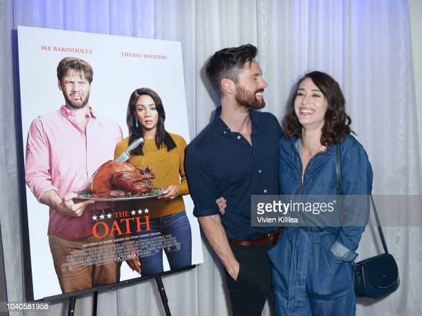 Tom Riley and Lizzy Caplan attend LA Film Festival World Premiere Gala Screening Of THE OATH on September 25 2018 in Los Angeles California