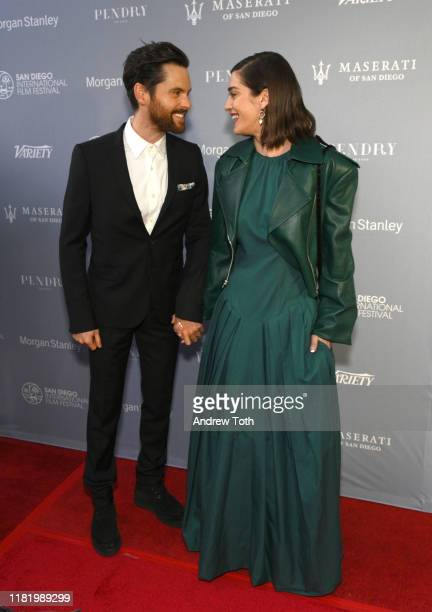 Tom Riley and Lizzy Caplan attend Night of the Stars during the San Diego International Film Festival at Pendry San Diego on October 18, 2019 in San...