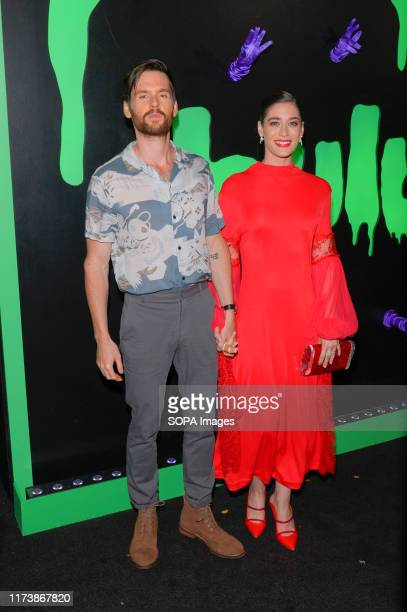 NEW YORK UNITED STATES Tom Riley and Lizzy Caplan attend the Huluween Celebration at Town Stages in New York City