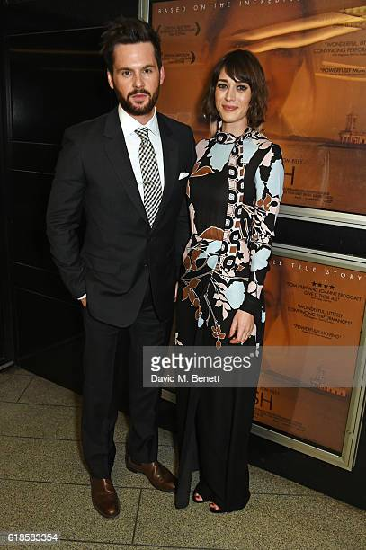 Tom Riley and Lizzy Caplan attend the UK Premiere of 'Starfish' at The Curzon Mayfair on October 27 2016 in London England