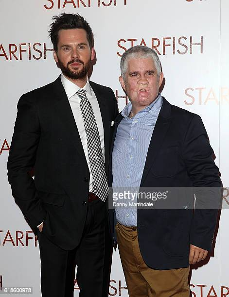 Tom Riley and Tom Ray attends the UK film premiere of Starfish at The Curzon Mayfair on October 27 2016 in London England