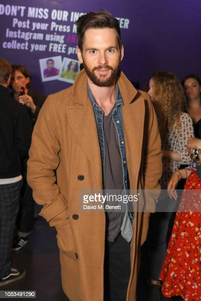 Tom Riley attends the press night of 'I and You' at Hampstead Theatre at Hampstead Heath on October 25, 2018 in London, England.