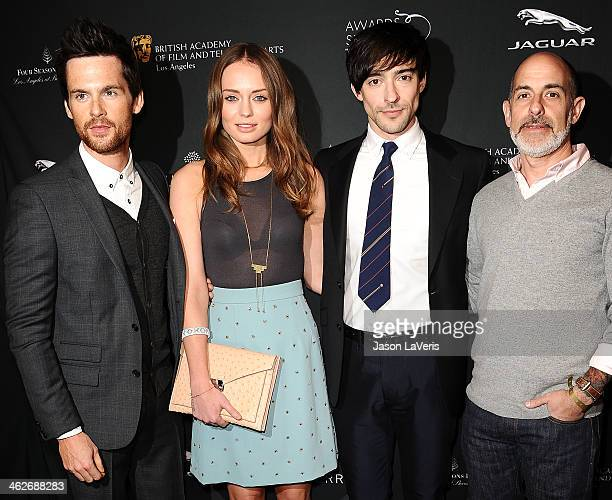 Tom Riley Laura Haddock and Blake Ritson attend the BAFTA LA 2014 awards season tea party at Four Seasons Hotel Los Angeles at Beverly Hills on...