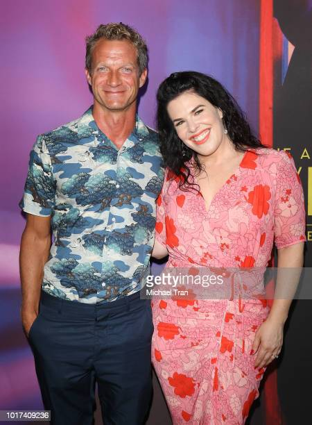 Tom Rob Smith and Alexis Martin Woodall attend the photo call for FX's 'The Assassination Of Gianni Versace American Crime Story' held at Los Angeles...