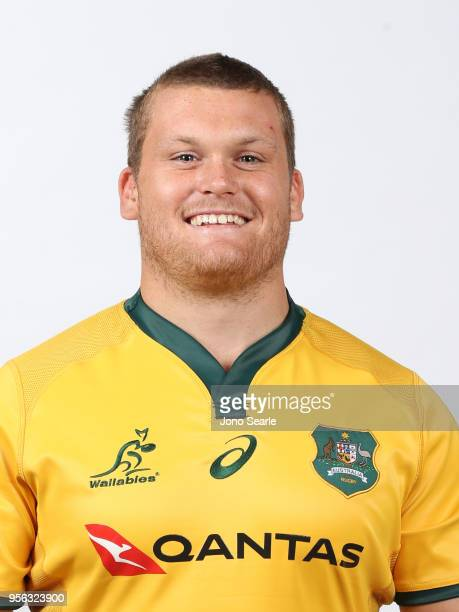 Tom Robertson poses during the Australian Wallabies headshot session on May 7 2018 in Gold Coast Australia