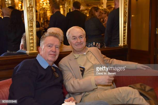Tom Robinson and Paul Gambaccini attend the Queer Britain National LGBTQ+ Museum reception at Cafe Royal on February 28, 2018 in London, England.