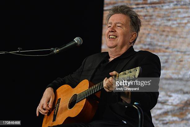 Tom Robinson performs on stage in support of One campaign's Agit8 event at Tate Modern on June 13 2013 in London England