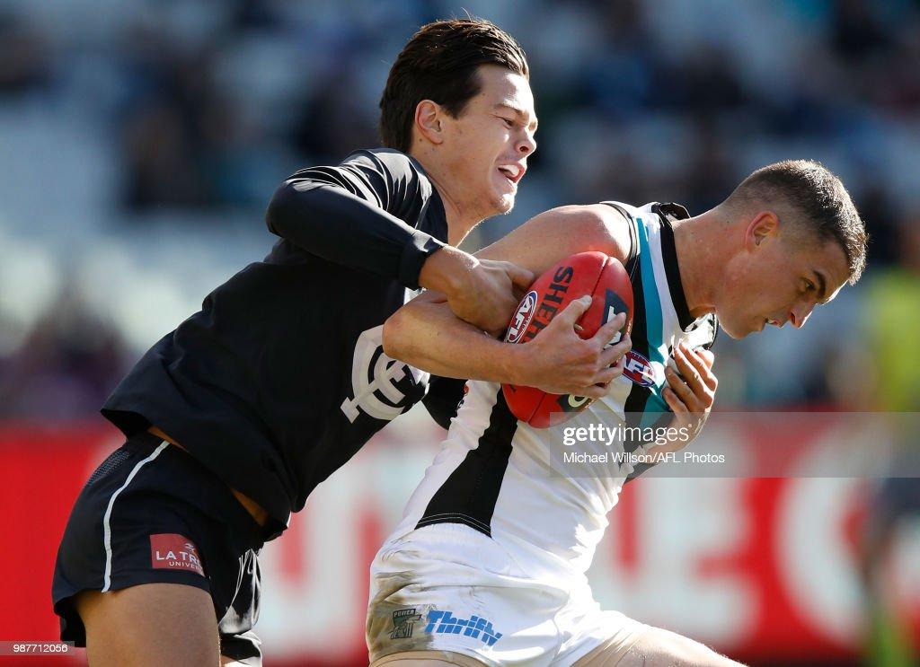 AFL Rd 15 - Carlton v Port Adelaide : News Photo