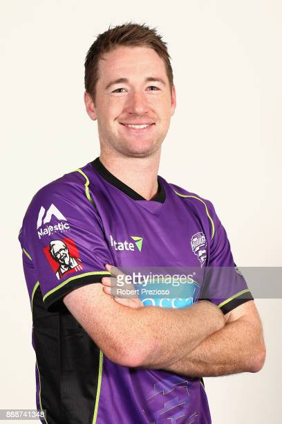 Tom Rogers poses during the Hobart Hurricanes BBL headshots session on December 9 2017 in Hobart Australia