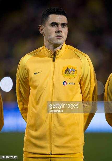 Tom Rogic of Australia before the International Friendly match between Australia and Colombia at Craven Cottage on March 27 2018 in London England