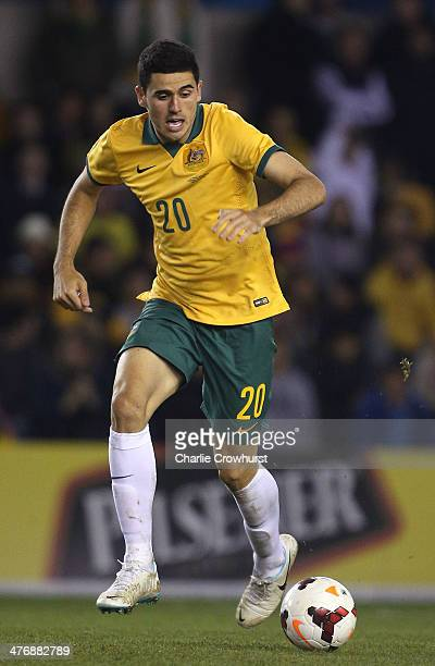 Tom Rogic of Australia during the International Friendly match between Australia and Ecuador at The Den on March 05 2014 in London England