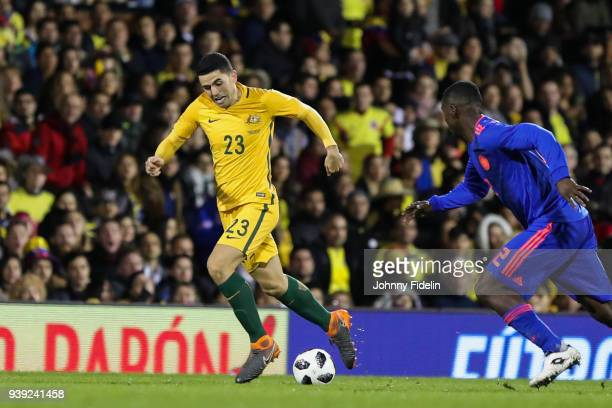 Tom Rogic of Australia during the International friendly match between Colombia and Australia at Craven Cottage on March 27 2018 in London England