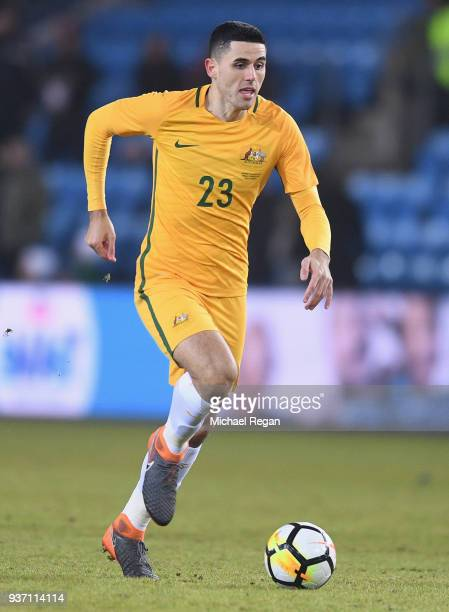 Tom Rogic of Australia in action during the International Friendly match between Norway and Australia at Ullevaal Stadion on March 23 2018 in Oslo...