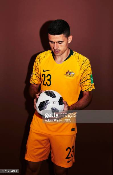 Tom Rogic of Australia poses for a portrait during the official FIFA World Cup 2018 portrait session at Trudovyne Rezeny on June 11 2018 in Kazan...