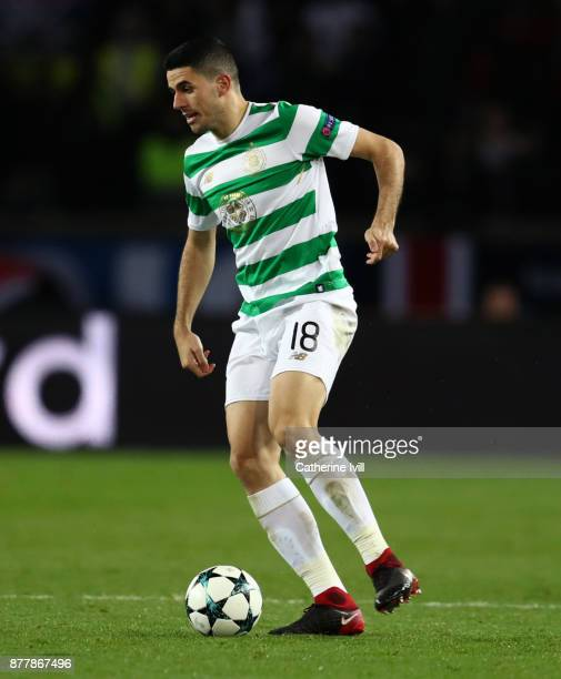 Tom Rogic of Celtic during the UEFA Champions League group B match between Paris SaintGermain and Celtic FC at Parc des Princes on November 22 2017...