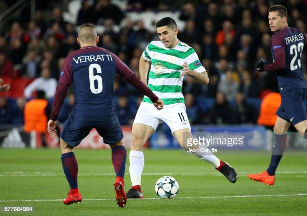 Tom Rogic of Celtic Glasgow during the UEFA Champions League group B match between Paris SaintGermain and Celtic FC at Parc des Princes on November...