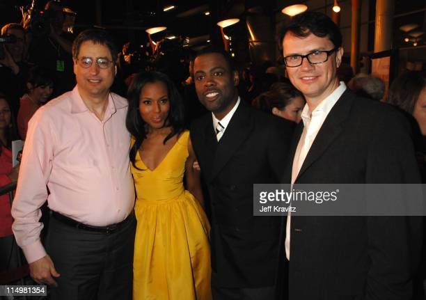 Tom Rothman Chairman of Fox Filmed Entertainment Kerry Washington Chris Rock and Peter Rice President of Fox Searchlight Pictures