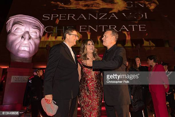 Tom Rothman Rita Wilson and Tom Hanks attend the INFERNO World Premiere Red Carpet at the Opera di Firenze on October 8 2016 in Florence Italy