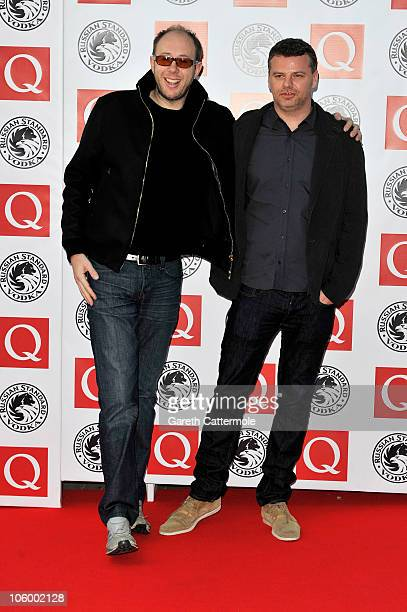Tom Rowlands and Ed Simons of The Chemical Brothers arrives at the Q Awards 2010 at Grosvenor House Hotel on October 25 2010 in London England