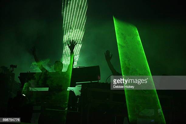Tom Rowlands and Ed Simons of The Chemical Brothers perform at Electric Picnic Festival at Stradbally Hall Estate on September 2 2016 in Laois Ireland