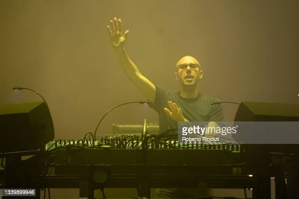 Tom Rowlands of The Chemical Brothers perform on the Main Stage on the third day of TRNSMT Festival 2021 on September 12, 2021 in Glasgow, Scotland.