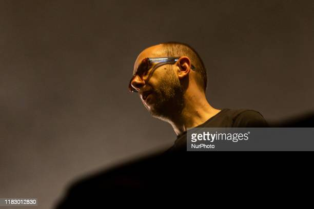 Tom Rowlands of The Chemical Brothers performs on stage at Mediolanum Forum on November 16 2019 in Milano Italy