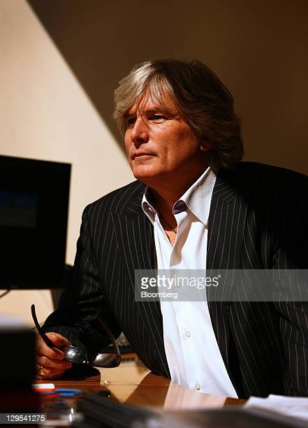 Tom Ryan, founder and chief concept officer of Smashburger Master LLC, sits for a photograph at the company's headquarters in Denver, Colorado, U.S.,...