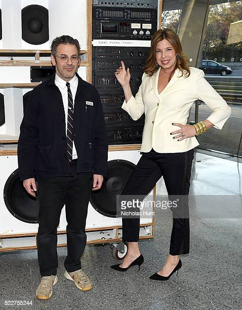 Tom Sachs and Anne Pasternak attend The 2016 Brooklyn Museum Artists Ball Honoring Stephanie and Tim Ingrassia on April 20 2016 in New York City