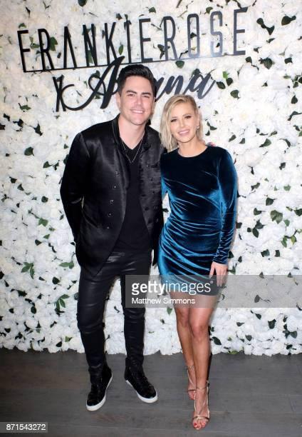 Tom Sandoval and Ariana Madix at Ariana Madix Frankie Rose Cosmetics holiday launch at COD Restaurant on November 7 2017 in Los Angeles California