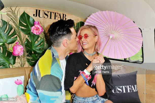 Tom Sandoval and Ariana Madix attend JustFab's FabForFestival PopUp on April 15 2018 in Palm Springs California
