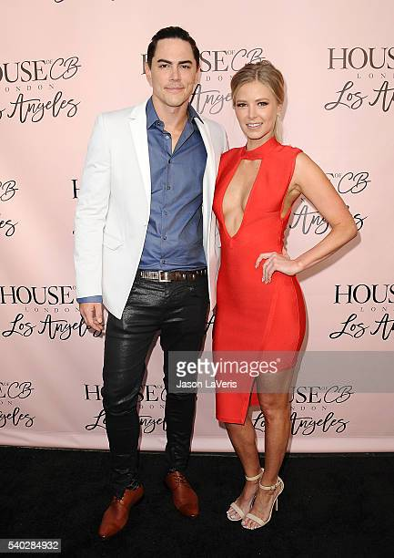 Tom Sandoval and Ariana Madix attend the House of CB flagship store launch at House Of CB on June 14 2016 in West Hollywood California