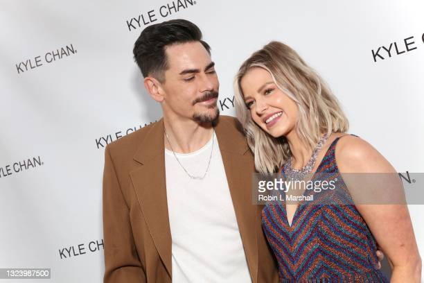 Tom Sandoval and Ariana Madix of Vanderpump Rules attend Kyle Chan's retail store opening at Kyle Chan Design on June 16, 2021 in Los Angeles,...