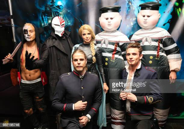 Tom Sandoval Ariana Madix Jeremy Madix and James Kennedy of 'Vanderpump Rules' attend Kyle Chan's Dark Disney Birthday Party at Sofitel Hotel on...
