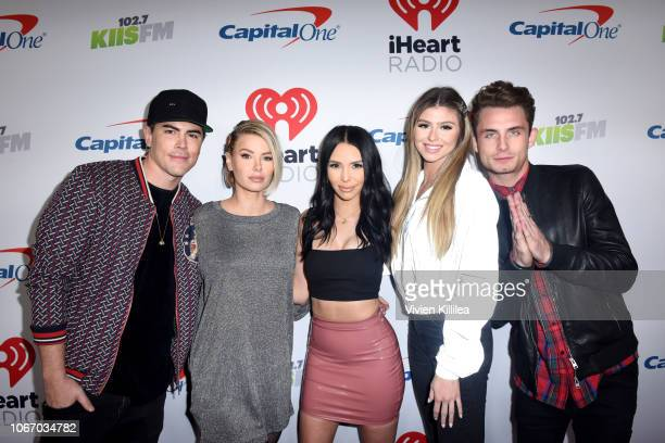 Tom Sandoval Ariana Madix Scheana Marie Raquel Leviss and James Kennedy attend 1027 KIIS FM's Jingle Ball 2018 Presented by Capital One at The Forum...