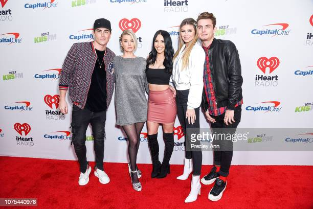 Tom Sandoval Ariana Madix Scheana Marie Raquel Leviss and James Kennedy attend KIIS FM's Jingle Ball 2018 Presented By Capital One at The Forum on...
