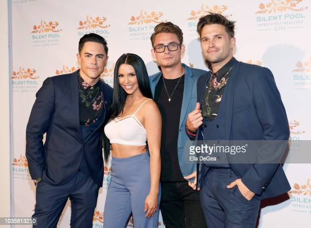 Tom Sandoval Scheana Marie James Kennedy and Tom Schwartz attend the Silent Pool Gin Launch Party at Tom Tom on September 18 2018 in West Hollywood...